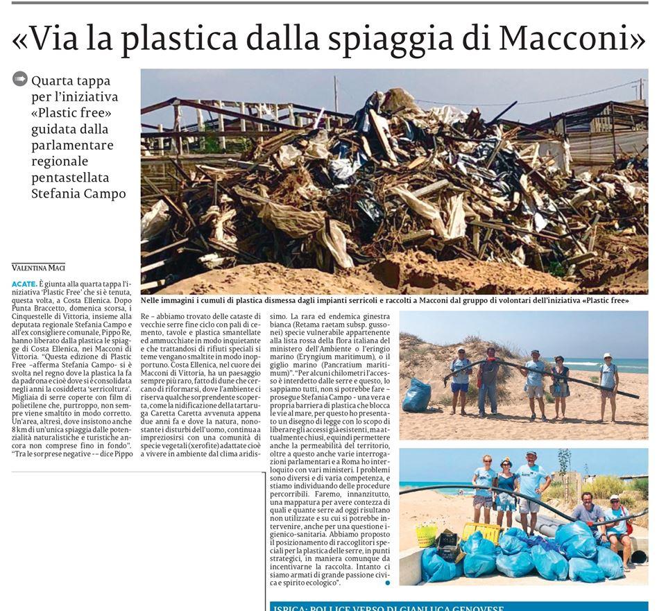 """La nostra giornata """"Plastic free"""" di domenica scorsa – La Sicilia"""