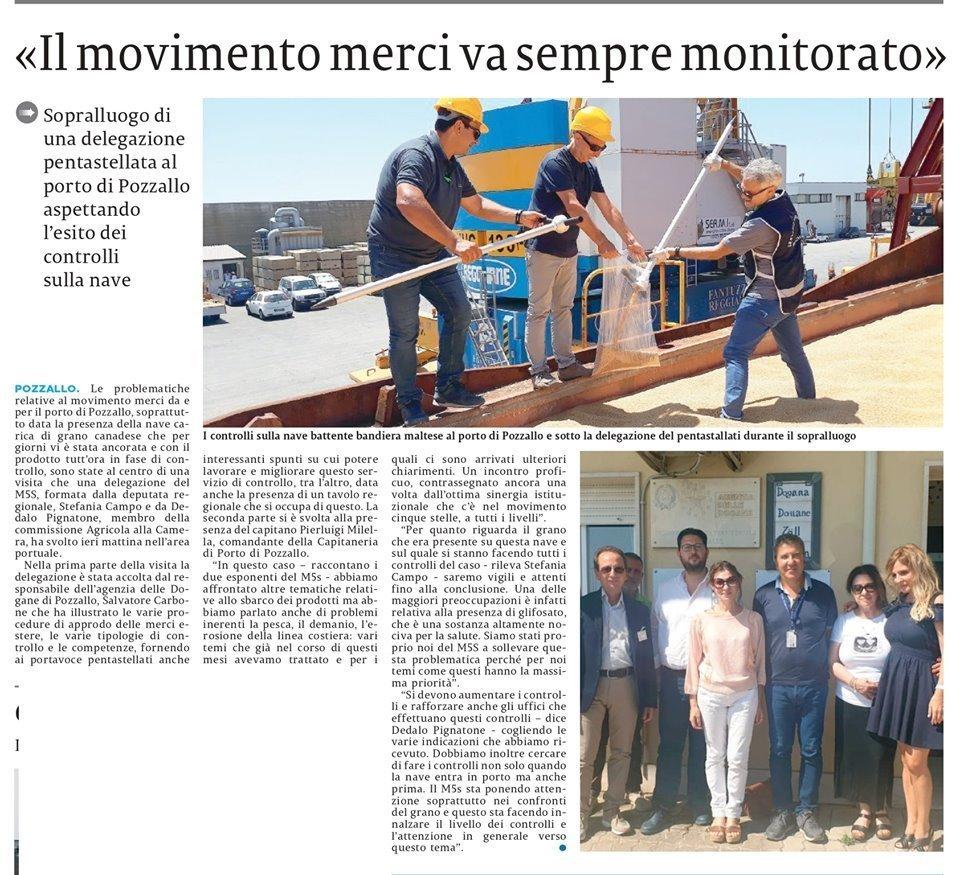 La nostra visita istituzionale al porto di Pozzallo – La Sicilia