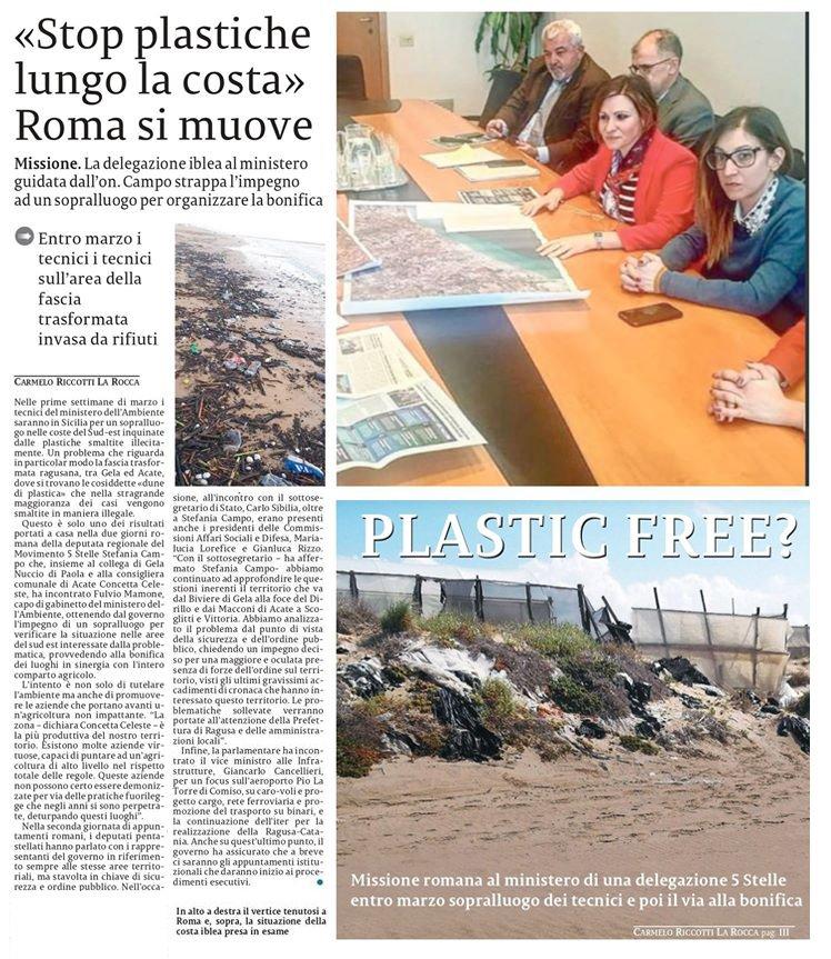 Un ampio resoconto del nostro incontro al ministero dell'Ambiente sulla salvaguardia delle coste ragusane La Sicilia