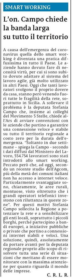 """In un momento come questo, abbiamo chiesto al Presidente Musumeci la banda larga per tutti – La Sicilia"""""""