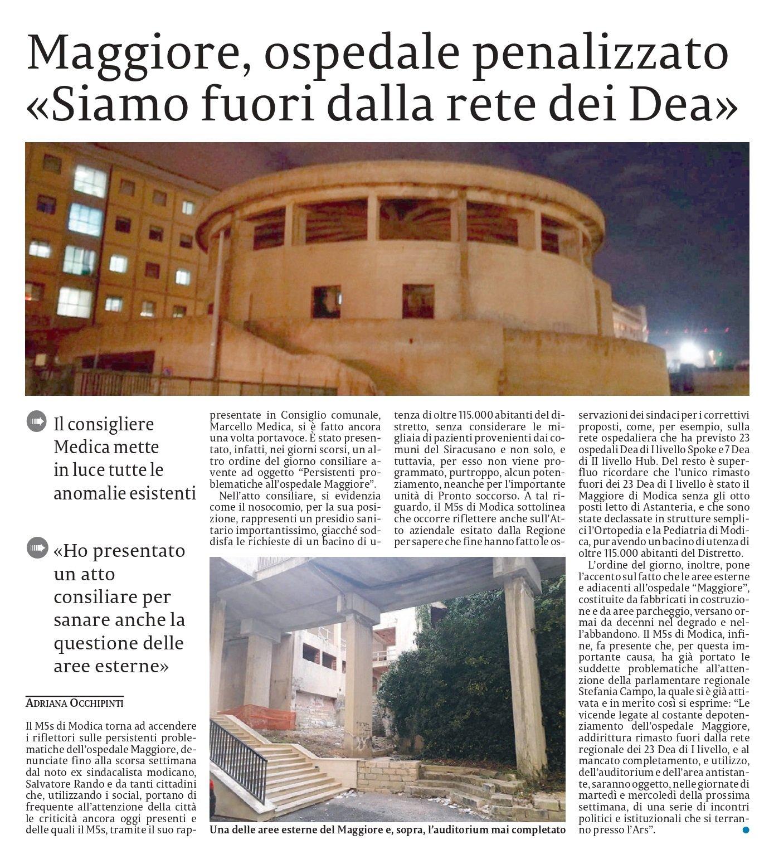 """Il nostro intervento in difesa dell'ospedale """"Maggiore"""" di Modica – La Sicilia"""